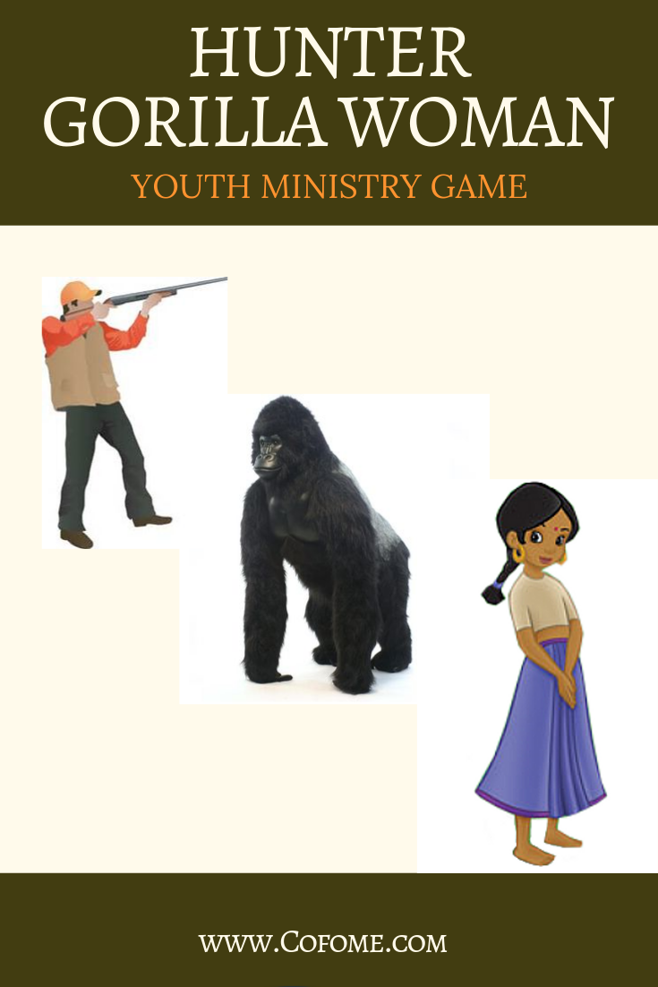Gorilla Hunter Woman - Youth Ministry Game